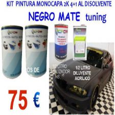 kit pintura negro mate coches