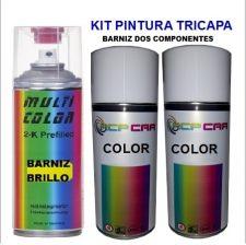 KIT SPRAY PINTURA TRICAPA BARNIZ 2K 250